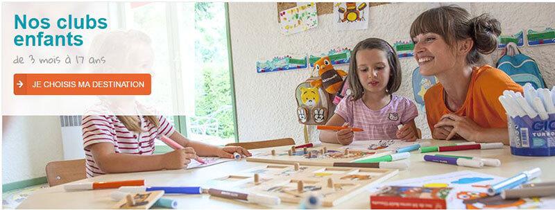 Voir toutes les destinations avec les clubs enfants VVF Villages