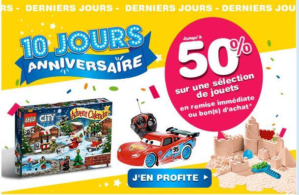 Toys'R'Us jouet anniversaire