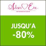 Adam et Eve : jusqu'à -80% sur une sélection d'articles.