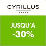 Cyrillus : Offre rentrée jusqu'à 30%