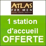 Atlas for Men : Une station d'accueil offerte !