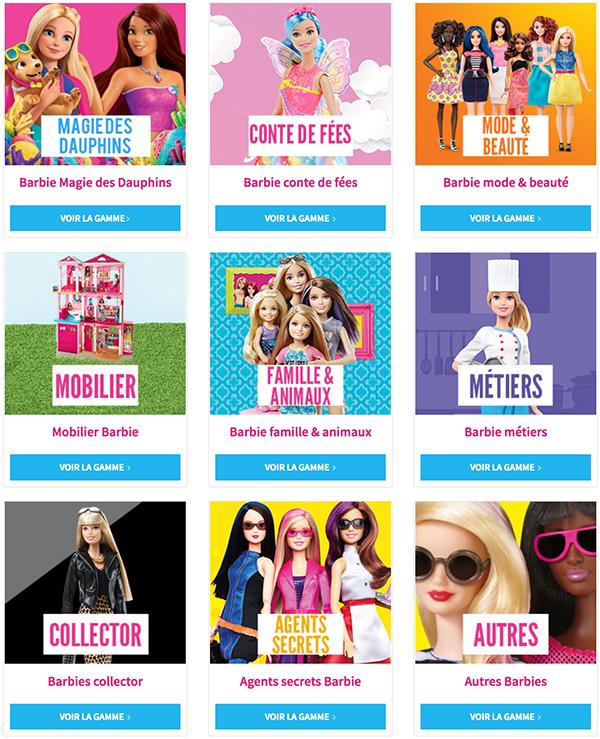 Cliquez ici pour découvrir tout l'univers Barbie