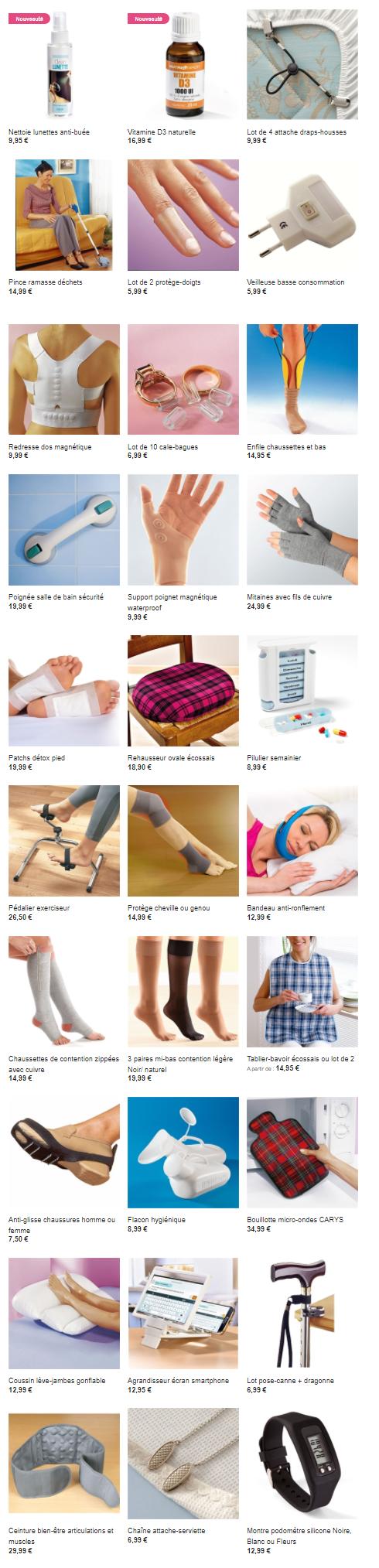 Cliquez ici pour acheter des objets pratiques et astucieux qui vous aideront dans votre confort