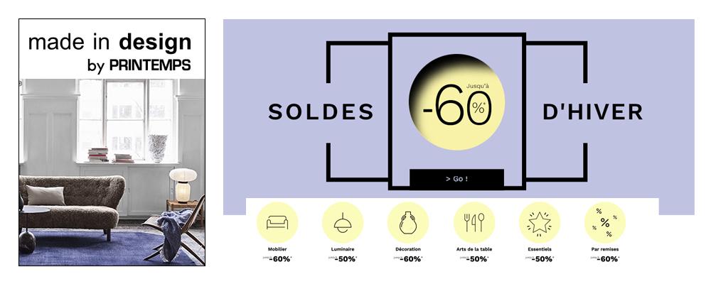MADE IN DESIGN - SOLDES D'HIVER JUSQU'A -60%