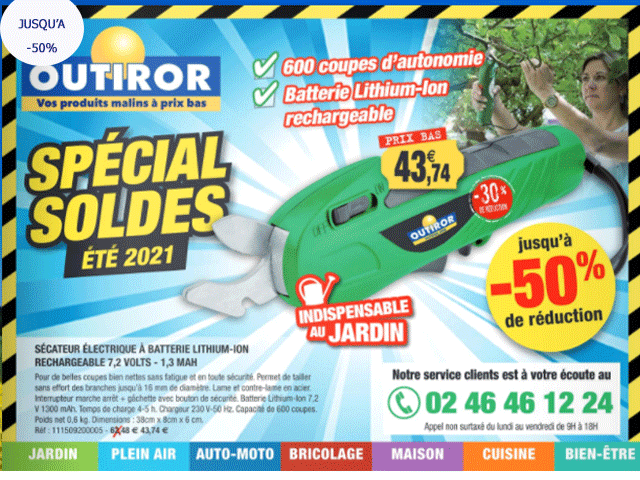 OUTIROR - Outillage - Jardin - Soldes jusqu'à -50%