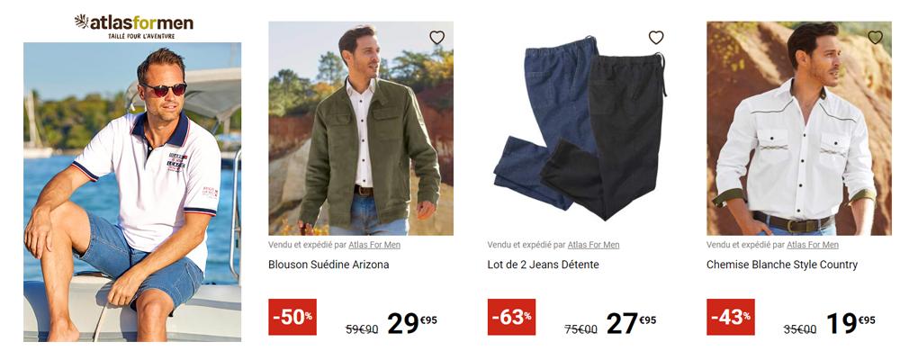 ATLAS FOR MEN, Promotion sur la collection d'été jusqu'à -60%