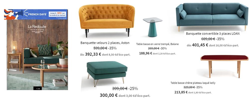 LA REDOUTE INTERIEURS -Un intérieur tout en couleurs ....French days jusqu'à -50%