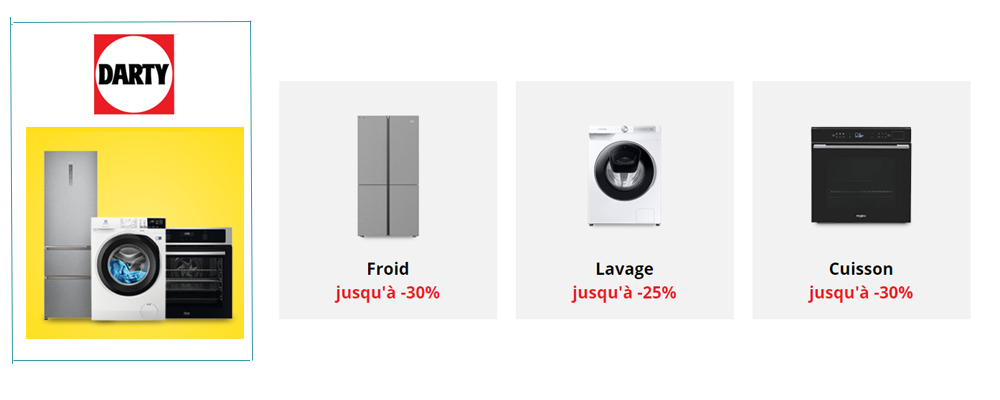 DARTY - ON CHANGE SON ELECTRO - REMISE JUSQU'A -30%