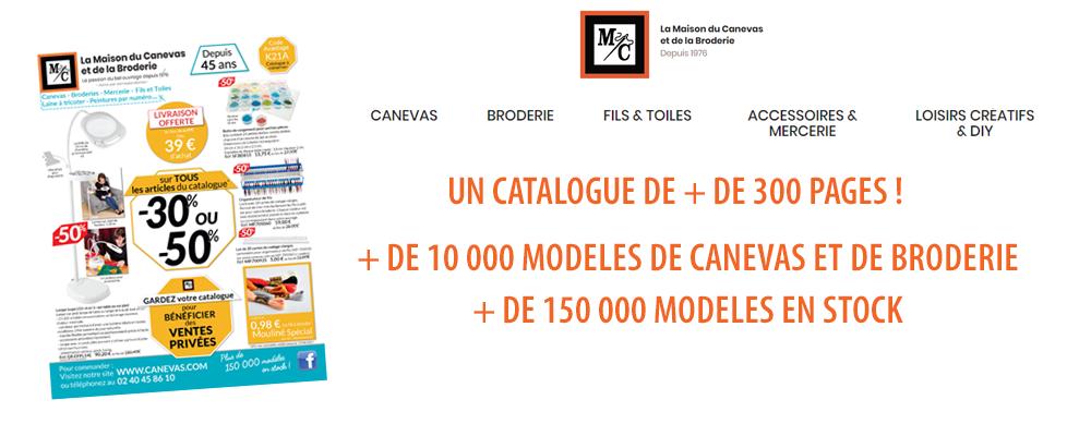 LA MAISON DU CANEVAS - Nouveau Catalogue de 300 pages de Loisirs Créatifs