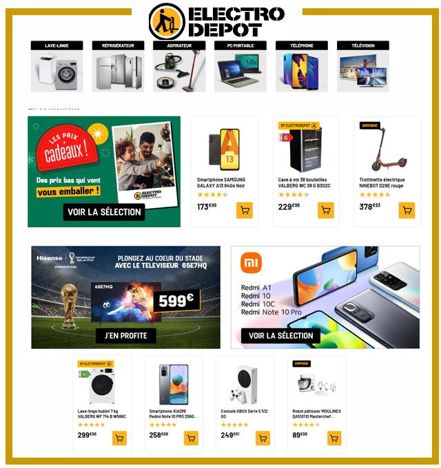 ELECTRO DEPOT - Electroménager & Multimédia - Soldes jusqu'à -50%