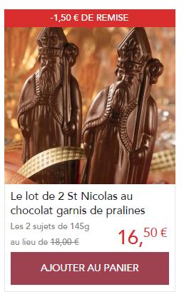 Je clic ici pour commander mes St Nicolas en Chocolat