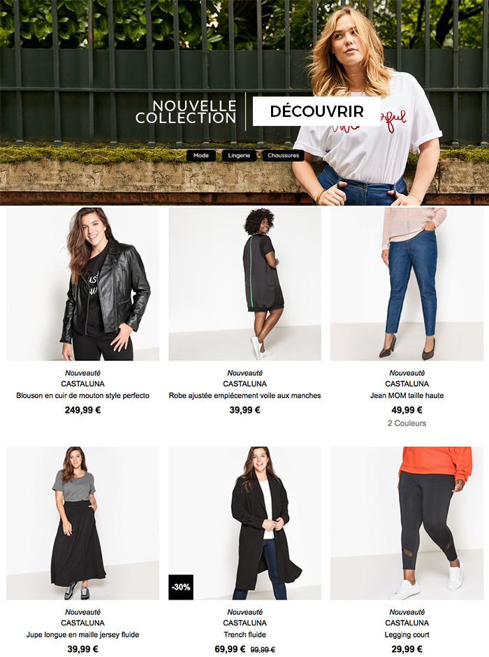 Castaluna, cliquez ici pour découvrir la collection femme