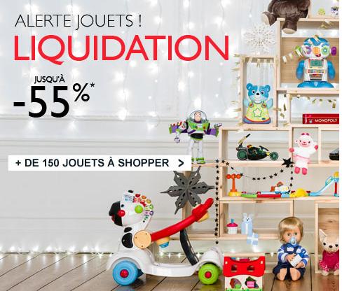 Liquidation : jusqu'à -55% sur les jouets