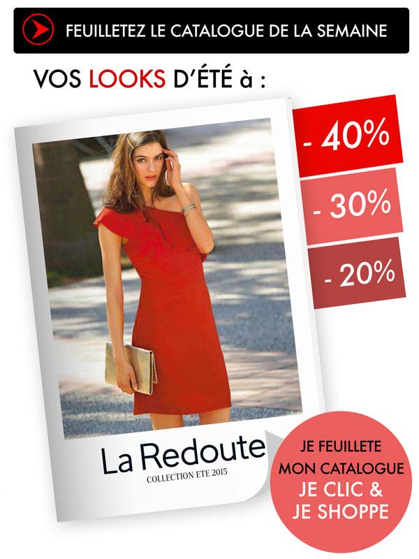 Shopping à -40% LA REDOUTE - Nouveau catalogue, les prix s'envolent sur les looks été !!