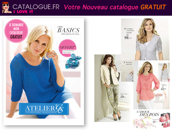 Nouveau catalogue ATELIER GS gratuit - Mode Femme élégante et conforatble, grandes tailles et sur-mesure !
