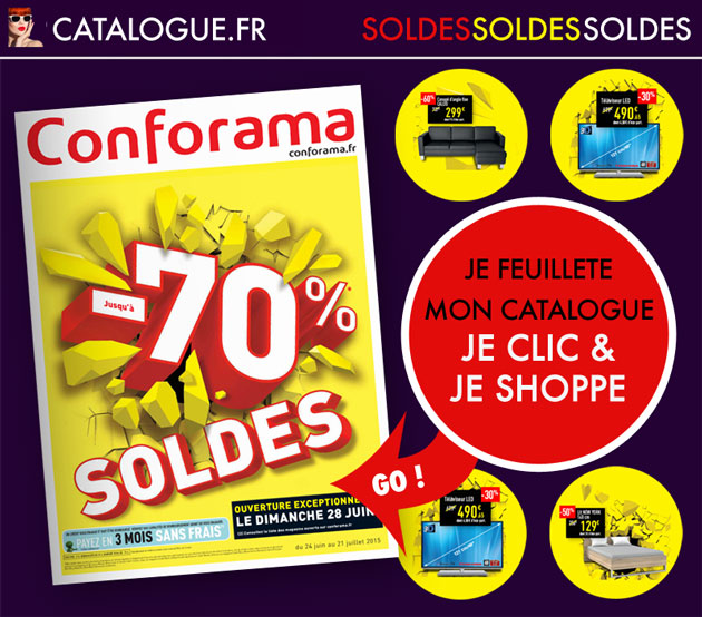 soldes conforama jusqu 39 70 sur l 39 quipement de la maison. Black Bedroom Furniture Sets. Home Design Ideas