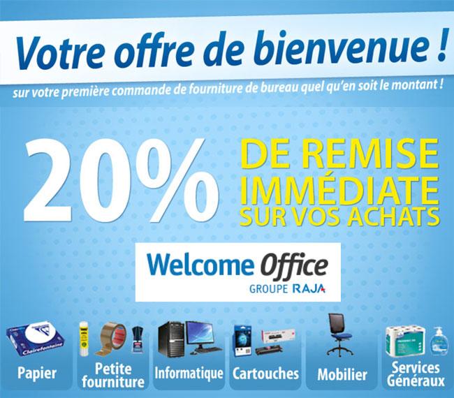 Welcome Office - 20% de remise immédiate sur votre première commande