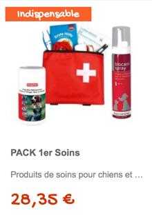 Le pack de premiers soins pour vos compagnons !