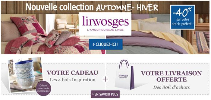 LINVOSGES: Nouvelle collection à-40% + CADEAU + Livraison Offerte !!