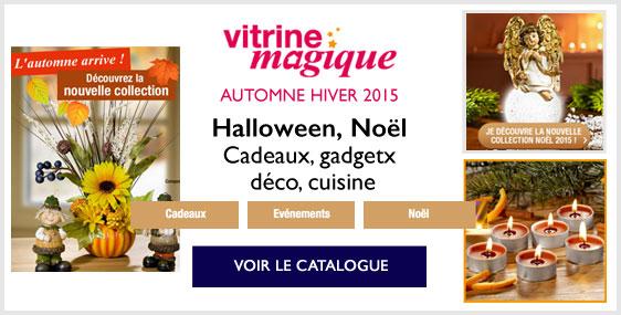 Vitrine magique se met aux couleurs de l 39 automne et vous for Catalogue deco