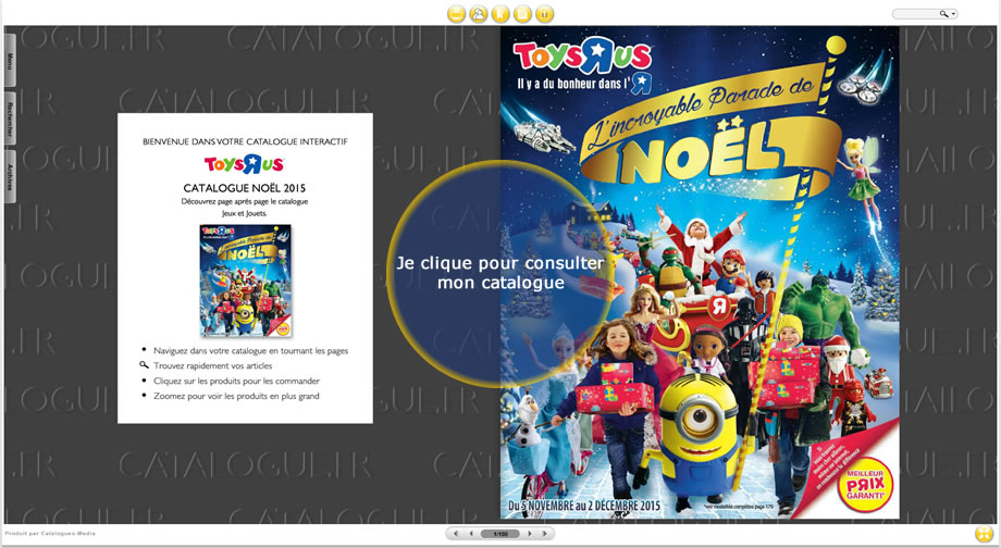 Le catalogue de Noël Toys'R'Us