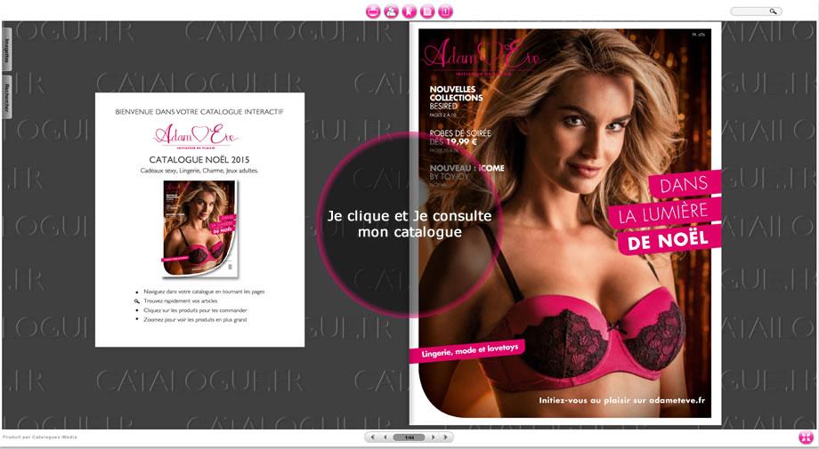 Nouveau Catalogue de Noël Adam & Eve en Exclusivité sur Catalogues.fr