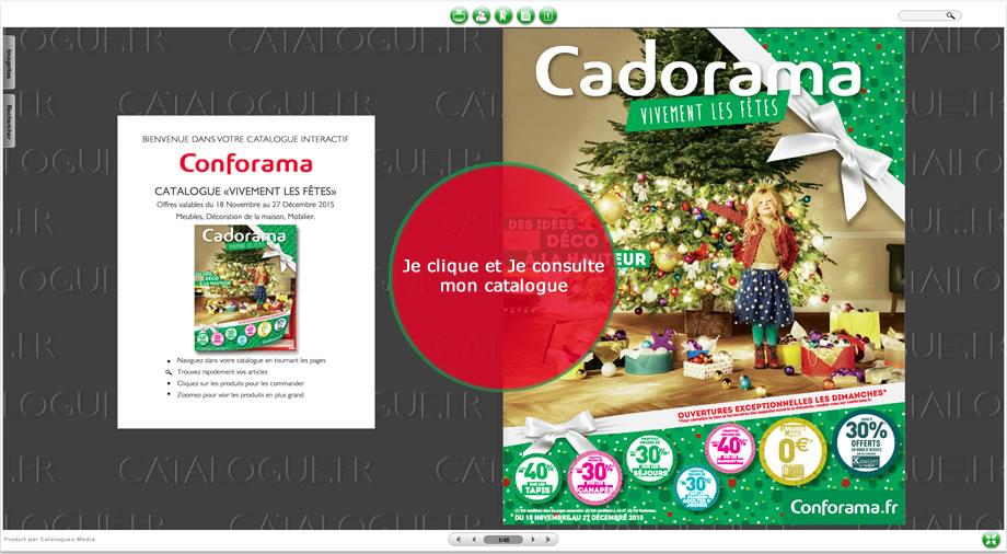 Nouveau catalogue Conforama : Cadorama, votre shopping déco de NOËL