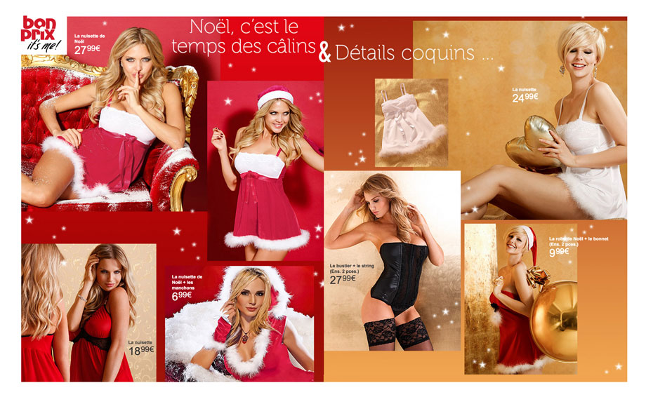 La gamme lingerie de Noël Bonprix