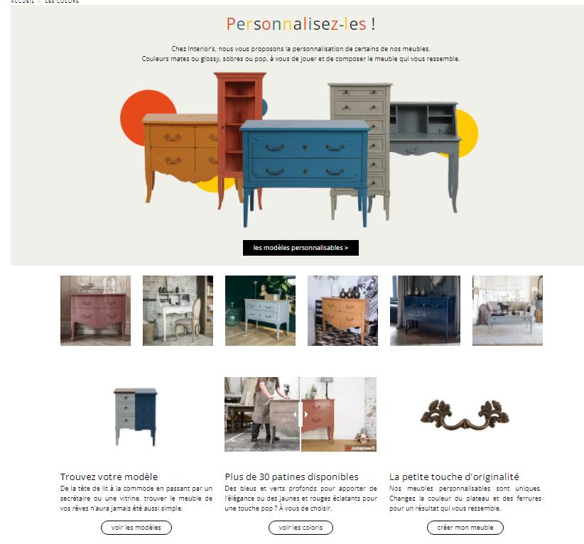 Découvrez la collection de meubles à personnaliser en cliquant ici