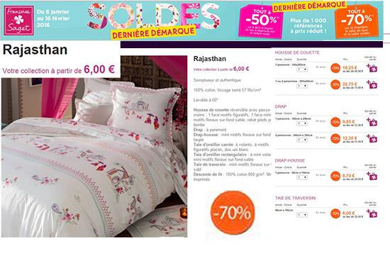 La parure de lit Rajasthan, à -70% !