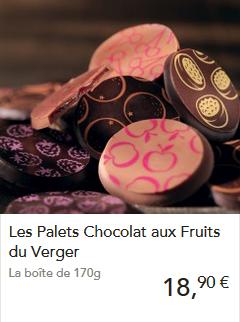 Les délicieux pales chocolat aux fruits du verger