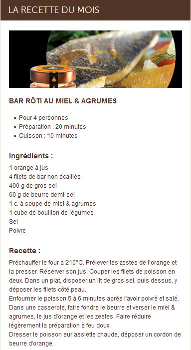La recette du bar rôti au miel et aux agrumes