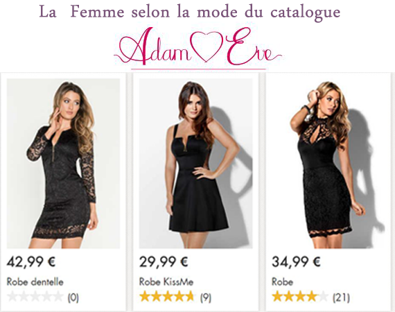 Les robes sexy Adam et Eve