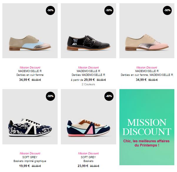 La sélection de chaussures de saison en promo !
