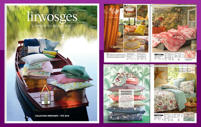 Consultez le nouveau catalogue Linvosges en ligne.