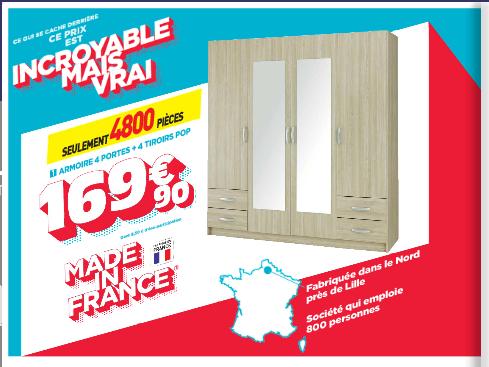 Des produits fabriqués en France.