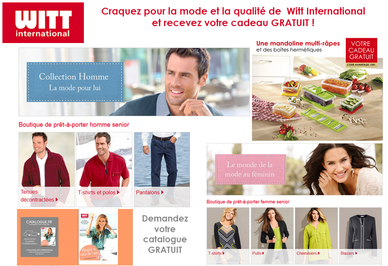Demandez votre catalogue Witt International