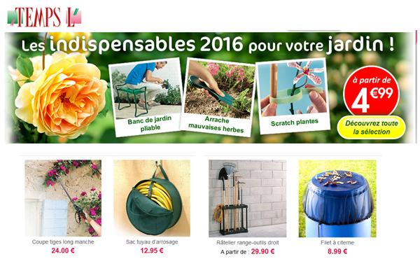 Voir les indispensables 2016 TempsL pour votre jardin.