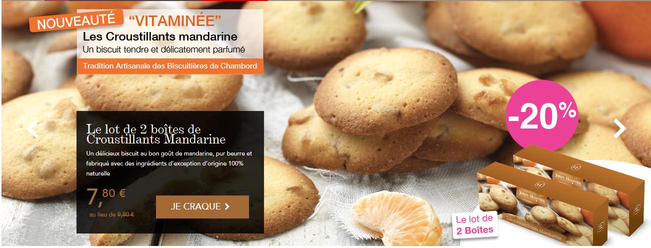 voir l'offre sur les croustillants mandarine.