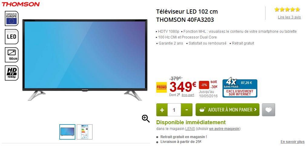Le téléviseur LED Thomson
