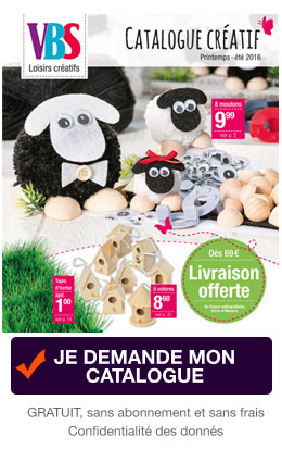 Je demande le catalogue VBS Hobby