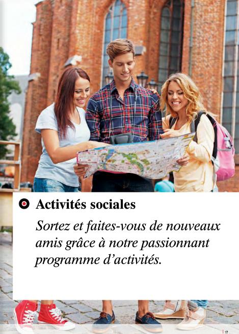 Des programmes d'activités et de destinations variées