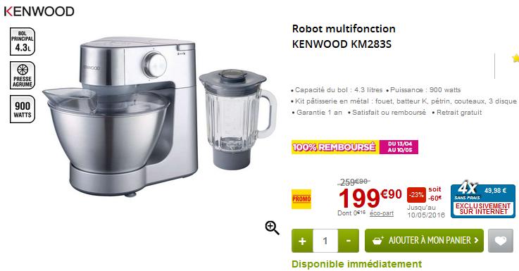 Le robot multifonction Kenwood