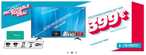 Le téléviseur Hisense