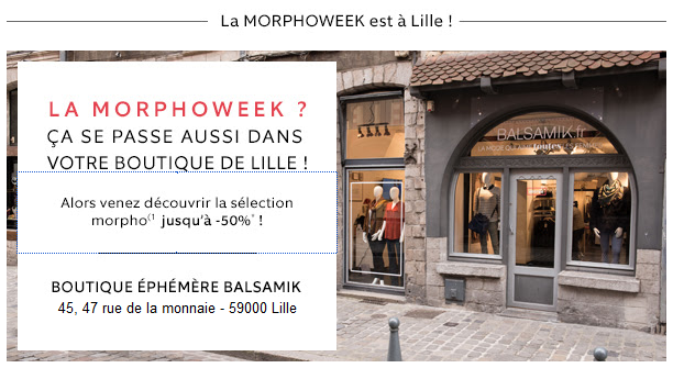 Le Morphoweek, c'est aussi dans votre boutique