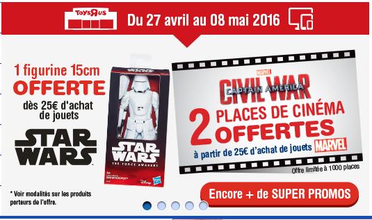 Une figurine offerte dès 25€ d'achat de jouets Star Wars