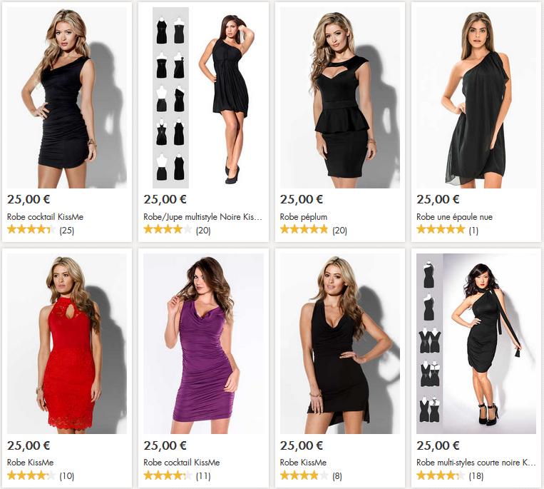 Toute une sélection de robes à 25€.