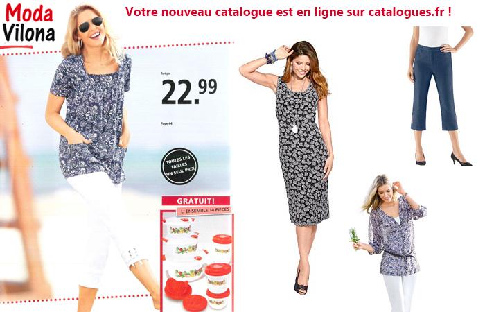 Ne ratez pas le nouveau catalogue Moda Vilona, disponible en ligne sur Catalogue.fr