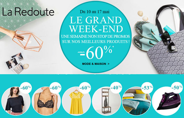 profitez du grand week end sur le catalogue la redoute. Black Bedroom Furniture Sets. Home Design Ideas
