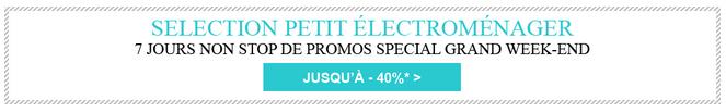 Jusqu'à -40% sur la sélection petit électroménager